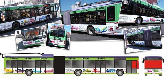 Реклама в троллейбусе, транспорт реклама
