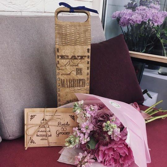 Деревянные подарочные коробочки