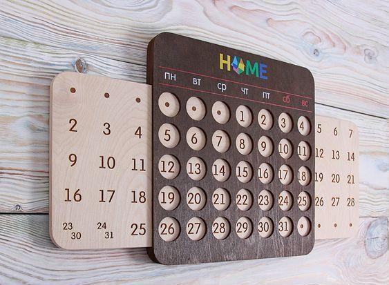 Деревянные корпоративные календари