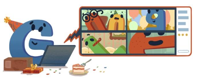 Новый дудл от Google в честь 22 дня рождения