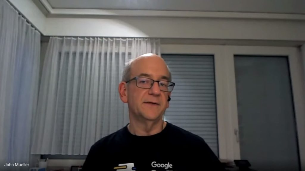 Специалист Google Джон Мюллер