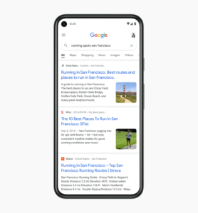 Обновленный дизайн поиска Гугл в мобильной версии