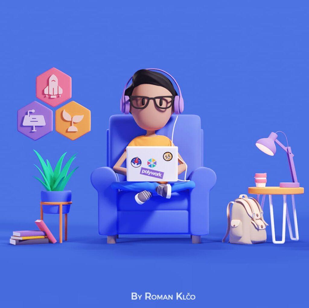 3д иллюстрации в дизайне