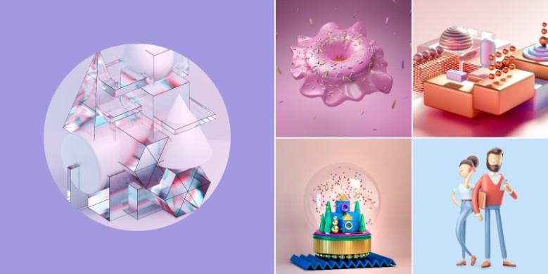 3д тенденции для графических дизайнеров 2021
