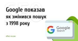Как менялся поиск Google c 1998 года